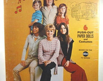 Vintage The Partridge Family Boxed Paper Dolls 1973 Sealed-Classic TV