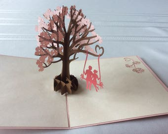 SWING TREE ANNIVERSARY Pop Up Card