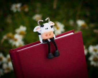 Fred the Friesian Cow Bookmark