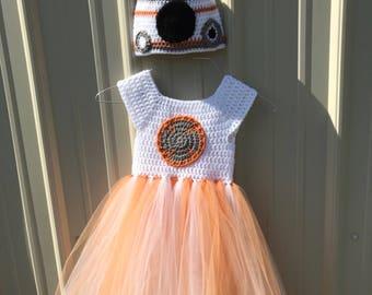 Crochet BB8 Inspired Tutu Dress Costume