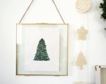 Christmas Tree Illustrated Print