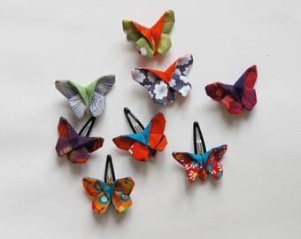 hair slide clip barrette butterfly origami hair accessory