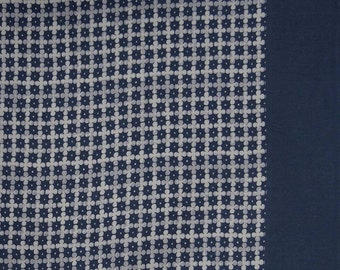 """Floral Print, Navy Blue Fabric, Upholstery Fabric, Dress Material, Sewing Fabric, 55"""" Inch Cotton Fabric By The Yard ZBC8349B"""