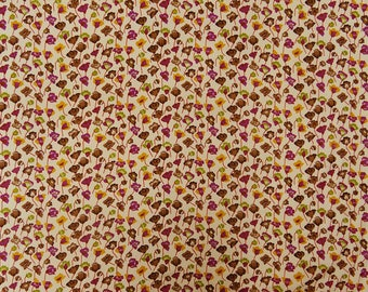 """Dressmaking Fabric, Cotton Fabric, Floral Print, Sewing Crafts Supplies, 40"""" Inch Decorative Fabric By The Yard ZBC8842A"""