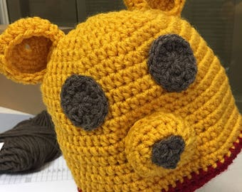 Winnie the Pooh Baby Hat and Diaper Cover Set