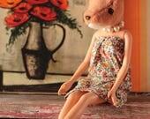 Deer animal head art doll...