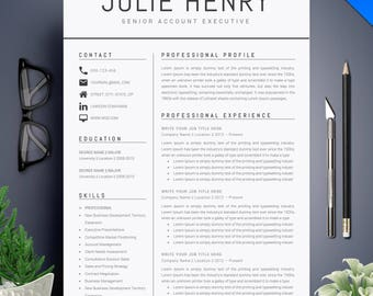 Resume template etsy modern resume template cv template cover letter professional and creative resume teacher yelopaper Images