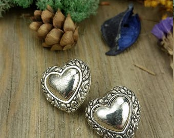 Vintage Heart Shaped Designer Earrings