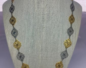 Silver and Gold Colored Delicate Filigree