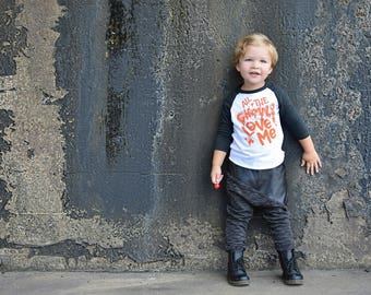 boys halloween shirt, all the ghouls love me shirt, toddler boy halloween shirt, baby boy, cute boy halloween tee, t shirt, halloween raglan