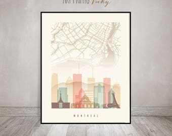home decor stores montreal qc montreal poster etsy 12596