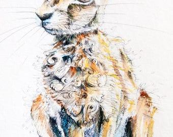 hare. print