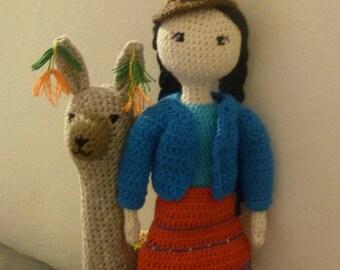 Beautiful handmade doll inspired by the Aymara women