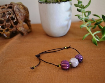 Shades of Purple adjustable bracelet