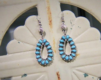 western jewelry, westerin earrings, turquoise jewelry, turquoise earrings, rodeo jewelry, rodeo outfit, southern jewelry, concho. squash