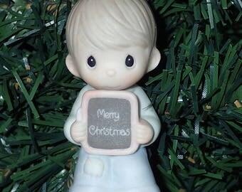 Precious Moments 1983 Love Is Patient BOY Christmas Ornament #E-0535