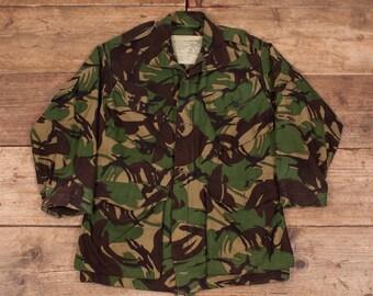 "Mens Vintage Supercraft Green DPM Camouflage Combat Smock Jacket Small 36"" R7850"