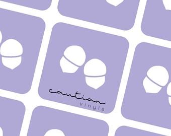 Acorn Nail Vinyls - Nail Stencil for Nail Art