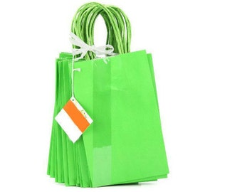 22 green gift/party bags