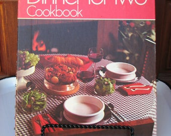 Vintage Betty Crocker's Dinner for Two Cookbook, Hardcover Spiral Bound Betty Crocker Cook Book, 1974