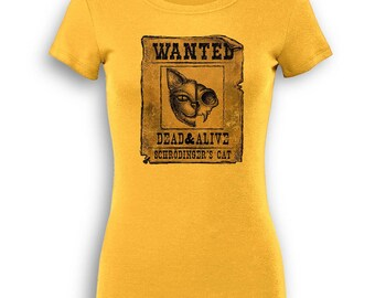 Wanted Schrodinger's Cat premium women's t-shirt