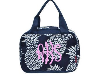 Pineapple Lunch tote, Monogrammed lunch bag