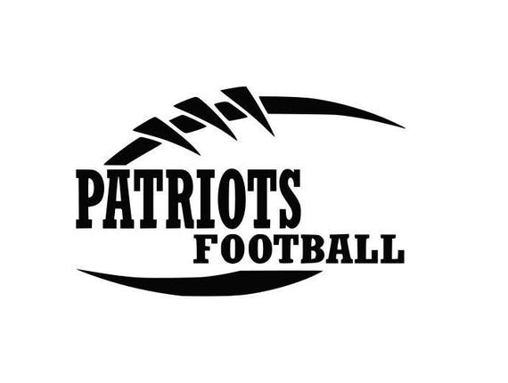 patriots football high school college svg file cutting dxf