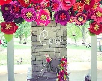 Paper Flowers, Flower Backdrop, Giant Paper Flowers, Paper Flower Wall, DIY Giant Flower Templates, 1st Birthday Decor. Flower Kit