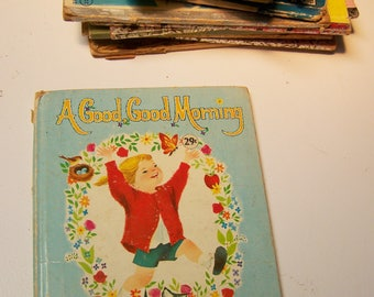 Vintage 1963 Children's Book – A Good, Good Morning – Written and Illustrated by Bonnie and Bill Rutherford – Whitman Publishing Company