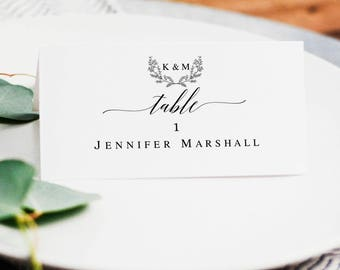 table card template