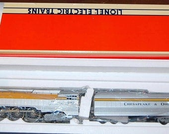 Lionel Trains #6-18043 Chesapeake & Ohio Train Set 4-6-4 '490' Streamline Hudson Steam Engine and Tender With 12 Cars and Caboose....NEW