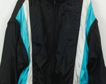 Vintage jacket, 90s windbreaker, 90s clothing, track jacket, 90s sportswear