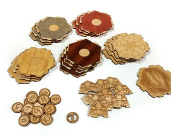 Lasercut Catan Tiles 2-4 players