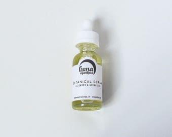 Lavender and Geranium Botanical Serum | Facial Serum Oil | Soothing Serum | Evening Serum | Nourishing Serum | Vegan Skincare