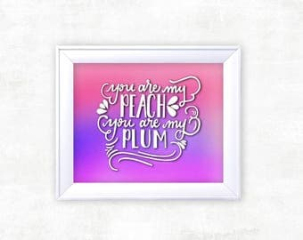 THE FRONT BOTTOMS Ombre Lyric Print | Pop Punk Lyrics | Calligraphy Print