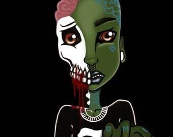 Zombie boy print