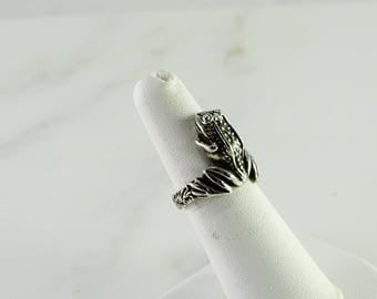 Sterling Frog Ring Size 6.5