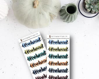FULL-ON FALL Functional Weekend (6 Planner Stickers) || SeattleKangarooPlans