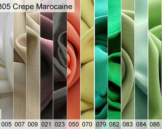 305 crepe Marocaine sample 6 x 10 cm