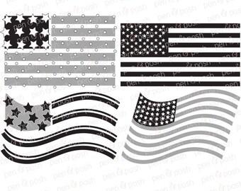 Flag SVG - American Flag SVG - Flag Dxf - 4th of July SVG - July 4th  Flag Cut Files - Flag Svg Files - Flag Clipart