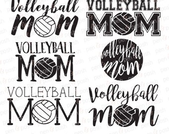 Volleyball Mom SVG - Volleyball SVG - Volleyball Mom - Sports Mom Svg - Volleyball Dxf - Volleyball Mom Shirt Graphic - Mom Svg