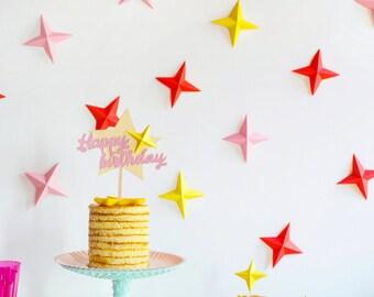 Birthday party kit, Party supplies, Birthday kit, Birthday supplies, Birthday decorations, Girl birthday decorations, Birthday cake topper