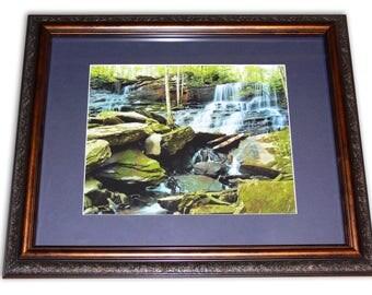WATERFALL Home Decor Framed Photograph