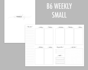 B6 TN Weekly Small Undated