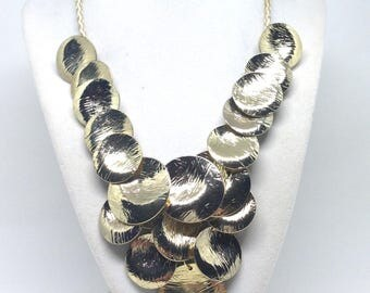 Joan Rivers Estate Shine on Shine  Bib Gold Tone Necklace
