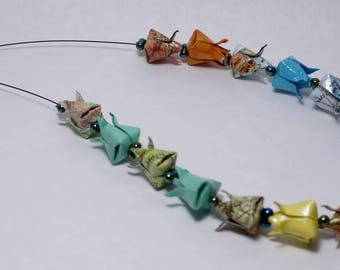Origami Tulip necklace