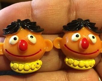 Ernie Sesame Street Stud Earrings  AL34