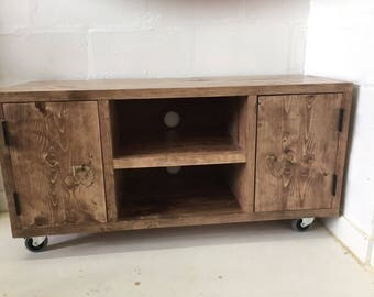 Tv unit,  tV cabinet,T v stand  media stand solid wood