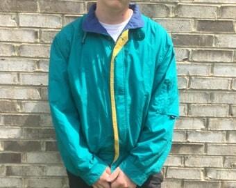 Funky XL Teal London Fog Rain Jacket