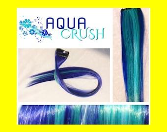 """AQUA CRUSH 18"""" Clip-In Hair Extension Set - 4 PIECES!"""